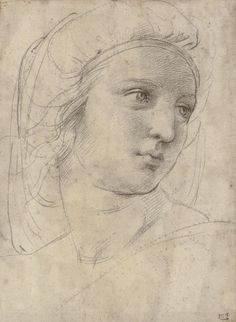10 Old Master works that changed the art market Raffaello Sanzio, called Raphael Head of a Muse, c. Black chalk over pounce marks, traces of stylus. x 22 cm x in). Sold for on 8 December 2009 at Christie's in London. © Christie's Images History Of Drawing, Life Drawing, Figure Drawing, Drawing Sketches, Painting & Drawing, Art Drawings, Chalk Drawings, Daily Drawing, Italian Renaissance Art