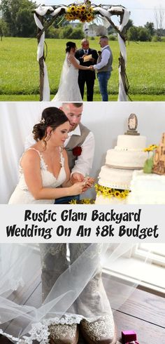 Rustic Glam Backyard Wedding | The Budget Savvy Bride | Wine bridesmaid dresses from David's Bridal | burgundy wedding | sunflower bridal bouquet #SilverBridesmaidDresses #BridesmaidDressesSequin #LavenderBridesmaidDresses #BridesmaidDressesPastel #LilacBridesmaidDresses