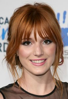 heart shaped face bangs - Google Search