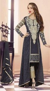 Add an alluring look to your personality. The Bollywood Salwar Kameez in Black color is crafted on Georgette material and which is crafted with Resham And Emboridery work. This attire comes with matching bottom and dupatta.This unstitched suit can be stitched in the maximum bust size of 42 inches...