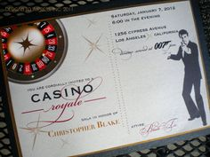CASINO ROYALE 007 invite new year's bachelor by designstoimpress, $2.75