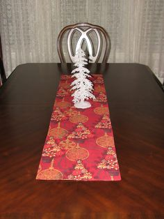 Xmas table runner gold table runner by StylinStitchesShop on Etsy
