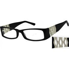 2fa01e8b5e3 Black Rectangle Glasses  447021