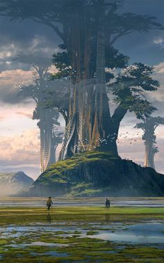 Welcome to the world of fantasy. (I will source the pictures if I know who the artist is.) I do NOT own any of those pictures. Fantasy City, Fantasy Places, Fantasy Kunst, Fantasy World, Fantasy Trees, Fantasy Art Landscapes, Fantasy Landscape, Landscape Art, Fantasy Concept Art