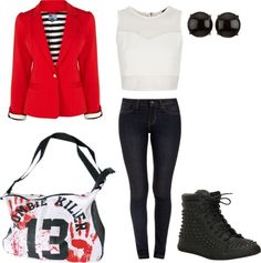 """""""zombie apocalypse outfit"""" by jadoreprettythings ❤ liked on Polyvore"""