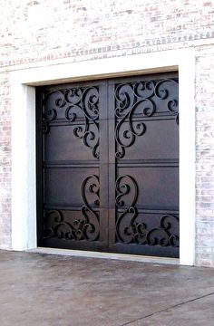 wrought iron doors mediterranean garage doors other metro by precision door service of. Black Bedroom Furniture Sets. Home Design Ideas
