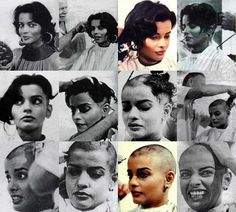 """"""" Actress Persis Khambatta undergoes an emotional head-shaving for her role as the Deltan lieutenant Ilia in """"Star Trek: The Motion Picture.""""..."""