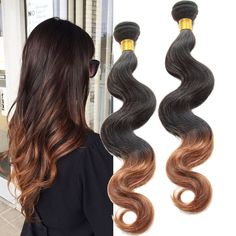 1B/30# Ombre Körperwelle reale Menschenhaarverlängerung DE Stylish Hair Wefts