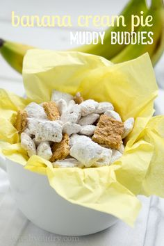Banana Cream Pie Muddy Buddies