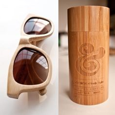 Ugmonk X Verde Style collaboration: eco-friendly handmade bamboo sunglasses. Each pair is laser engraved and comes complete with custom bamboo case and microfiber pouch.