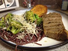 Extra red wine? Cooked pasta <5 minutes in water, strained and then cooked in a bottle of a few days old red wine. Cooked another 5 minutes then tossed in the skillet with blanched and sautéed broccoli/garlic. Topped with parmesan and crushed red pepper.  Gives plain old pasta (and old red wine) a new life!!