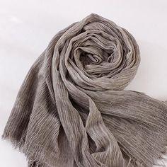 Fold Natural Cotton Scarf Women Men All Match Echarpe Winter Scarf Female Scarves 200cmx 70cm