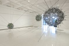 TOMAS SARACENO, LIGHTER THAN AIR MEDTRONIC GALLERY 2009: photo by gene pittman.
