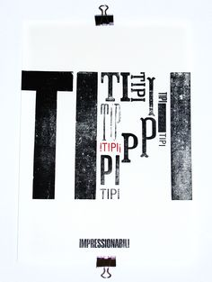 work by Cabaret Typographie  http://cabarettypographie.tumblr.com/ letterpress, poster, type, typography, letters, wood type