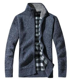 2018 Mens Wool Cardigan Sweaters Men'S Thick Stand Collar Pullover Full Sleeves Slim Solid Mens Sweaters Blue L Shawl Collar Cardigan, Wool Cardigan, Sweater Jacket, Wool Sweaters, Men Sweater, Mens Fashion Sweaters, Cardigan Fashion, Nylons