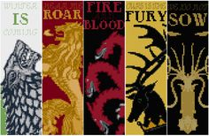 Game of Thrones: Bookmarks - Cross Stitch Patterns by black-lupin.deviantart.com on @deviantART
