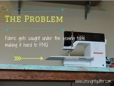 drop in sewing machine table tutorial DIY Bernina 380 Bernina USA