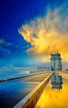 Lisbon, Lisboa | Torre de Belem is located on the bank of Portugal's Tagus River, Belem Tower was built under King John II's orders as both a defensive structure and ceremonial gateway to Lisbon. http://www.enjoyportugal.eu/#!lisboa/cjbl