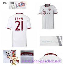 Bundesliga: Maillot Football Bayern Munich Blanc (LAHM 21) Third 2016 2017…