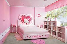 De todo en la misma habitación Sanrio Hello Kitty, Toddler Bed, Bedroom, Cute, Furniture, Home Decor, Smile, Decoration, Objects