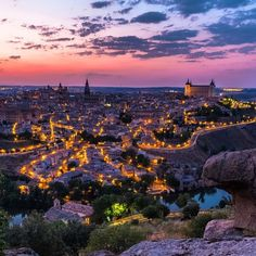 "To quote @stephenbridger, ""Holy Toledo!"" Enjoying the evening glow in #Spain. #sunset #travelbucketlist #travelzoo"