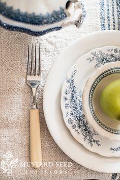 vintage table setting | miss mustard seed