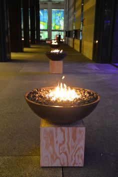 Arrival- Trail of fire bowls to main stage