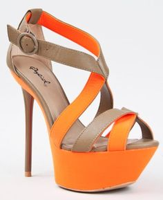 $41.00 Qupid CIARA-05 Platform High Heel Stiletto Strappy Neon Sandal  From Qupid   Get it here: http://astore.amazon.com/ffiilliipp-20/detail/B009TFP0LQ/184-1197477-8637935