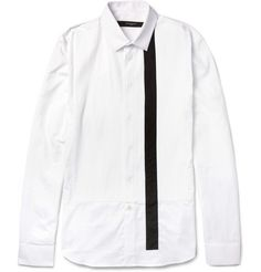 Givenchy Slim-Fit Striped Bib-Front Cotton Shirt