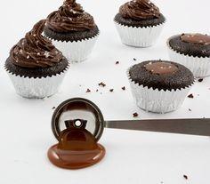chocolate salted-caramel cake, salted-caramel mini cupcakes, martha stewart's salted-caramel cupcake recipes