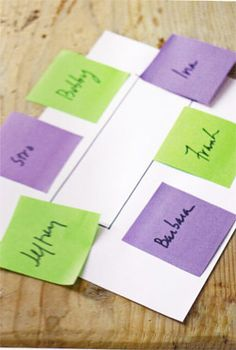 Barefoot Contessa - Easy Tips-post-it-notes for seating   *g