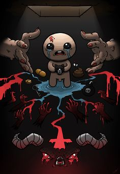 fourstringfingersting: Behold! My Binding of Isaac tribute...