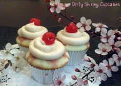 Bake It With Booze!: Dirty Shirley Cupcakes