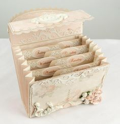 tutorial  accordion recipe box.(Christmas gift) Same concept here different theme.