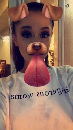 Ariana Grande puppy snapchat filter