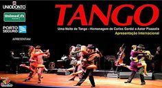 Neste sábado de volta a cidade a Cia Tango & Paixão com o melhor do Tango Argentino ao vivo (banda, dançarinos e cantor) com o espetáculo 'Uma Noite de Tango - Homenagem de Carlos Gardel a Astor Piazzolla'.