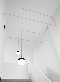 Products we like / Lamp / Lines / Cable / Geometric / Black / White / Spherical / at IndustrialDesigners.co |  Michael Anastassiades - String Lights