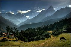 Himalayas, Nepal - This rough-and-rocky mountain range in Asia boasts the world's tallest mountain - Everest - and many of the runners-up too, including K2. Not for the fainthearted, climbing the miles-high peaks has stolen many explorers' lives, but treks around the bases are also possible.