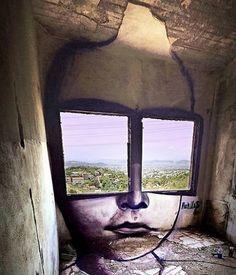 Share your graffiti and Street Art here. Amazing Street Art, 3d Street Art, Street Art Graffiti, Amazing Art, Urbane Kunst, Chalk Art, Land Art, Public Art, Urban Art