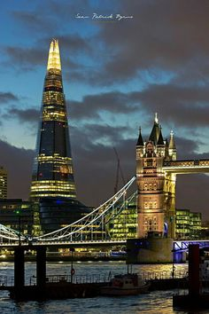 The Shard & Tower Bridge, London, by byrnephotography England And Scotland, England Uk, Places Around The World, Around The Worlds, Photographie Street Art, Beautiful London, Belle Villa, London City, London Bridge