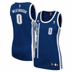 Russell Westbrook Oklahoma City Thunder NBA Adidas Women's Navy Blue  Replica Jersey ...