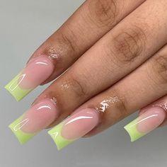 Color For Nails, Nail Colors, Cute Acrylic Nails, Square Nails, Nails Magazine, Press On Nails, Nail Tech, Inspiration, Beauty