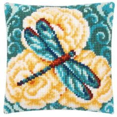 Vervaco® Dragonfly Pillow Cover Needlepoint Kit $34.99