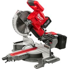 Woodworking Circular Saw Milwaukee FUEL Lithium-Ion Brushless Cordless 10 in. Dual Bevel Sliding Compound Miter Saw Kit Battery - Sliding Mitre Saw, Sliding Compound Miter Saw, Compound Mitre Saw, Milwaukee Power Tools, Milwaukee Tools, Milwaukee M18, Home Depot, Miter Saw Reviews, Drill