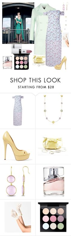 """""""pastel beauty"""" by denibrad ❤ liked on Polyvore featuring Ted Baker, Boohoo, Ross-Simons, Casadei, Valentino, Miadora, BOSS Hugo Boss, MAC Cosmetics, Lipstick Queen and fourcolorchallenge"""