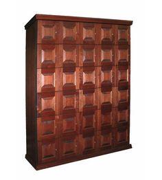 30 Unit Cigar Locker with Humidifying Unit - The Elegant Bar - 1