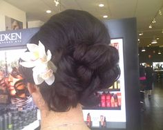 Double 2.5 Inch Blush Pink Cymbidium Orchid Hair. Don't want updo. Flowers in hair