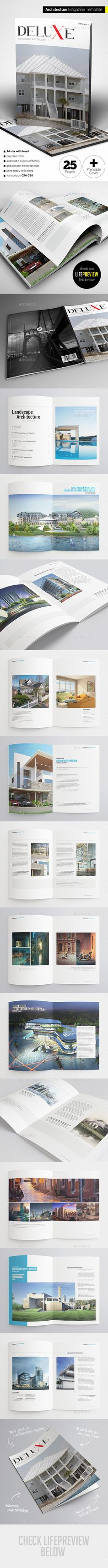 Architecture Magazine — InDesign INDD #layout #editorial • Available here → https://graphicriver.net/item/architecture-magazine/11239258?ref=pxcr
