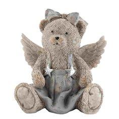 Clayre & Eef 6PR1003 Figur Bär Dekobär mit Flügel ca. 12 x 8 x 13 cm - Werbung #Geschenkidee #Geschenk #Bär #Dekofigur #Wohndeko #Deko #Dekoration