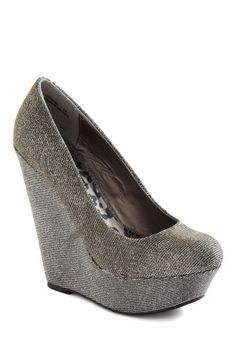 Walk and Roll Wedge in Pewter - Grey, Solid, High, Platform, Wedge, Party, Girls Night Out, Holiday Party